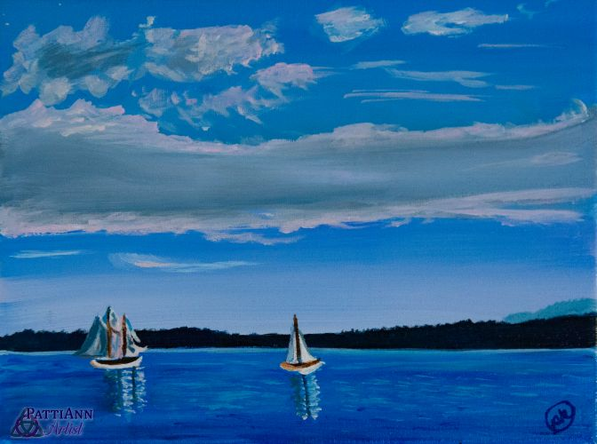 Sailboats on the Sound
