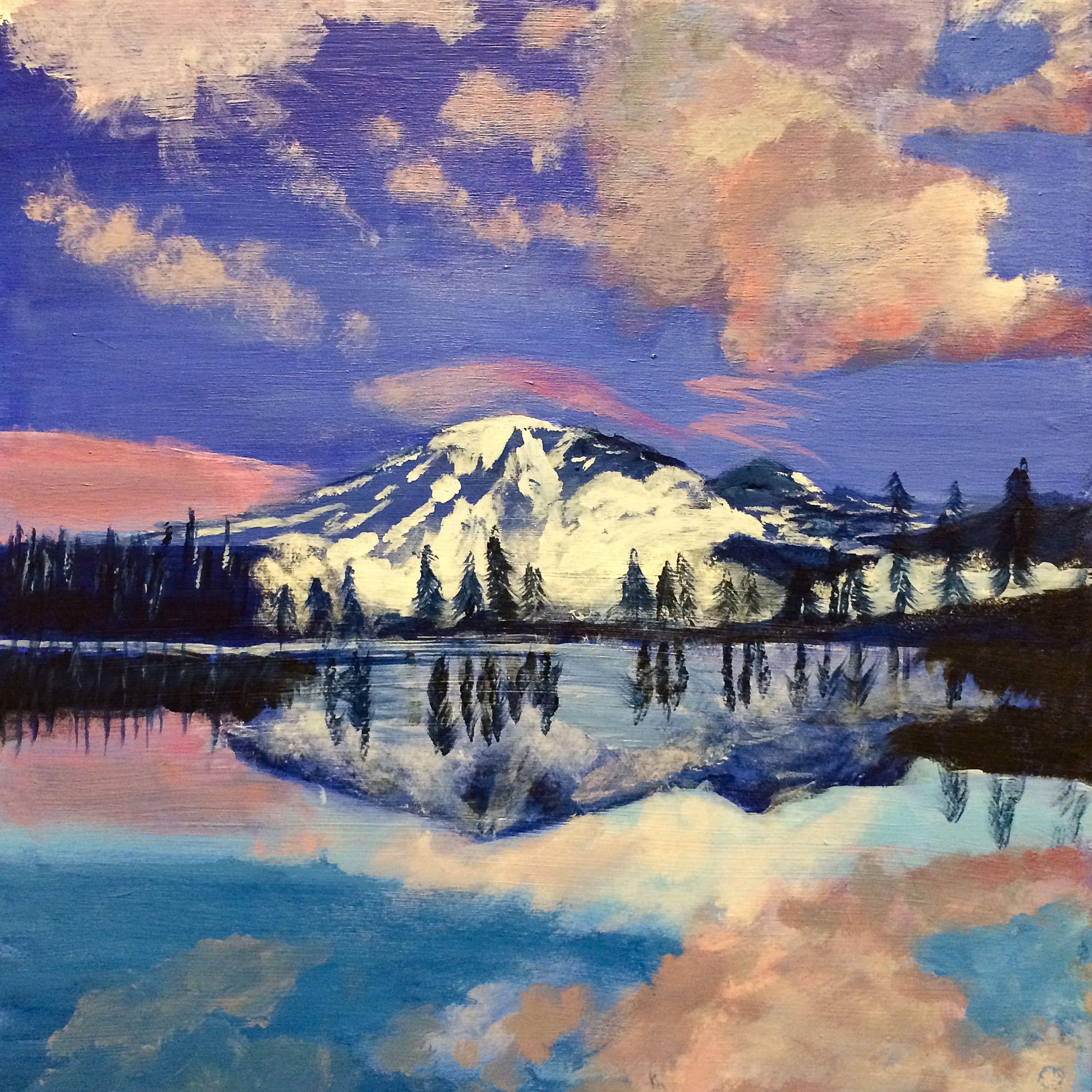 Mt Rainier from Reflection Lake