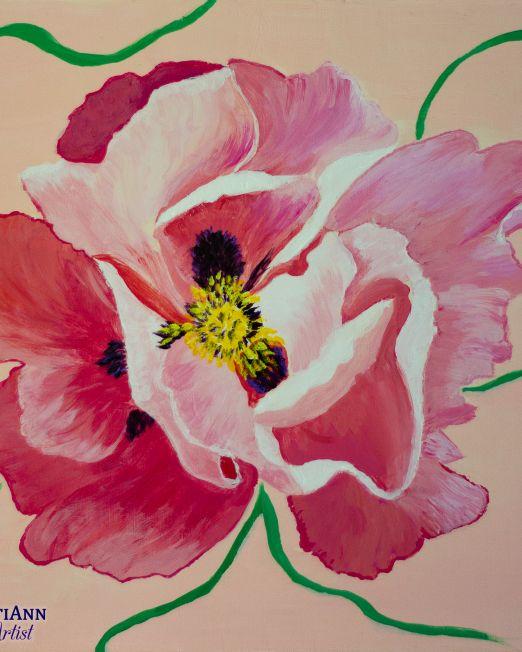 Flowers in Summer Trio - Peony in Summer