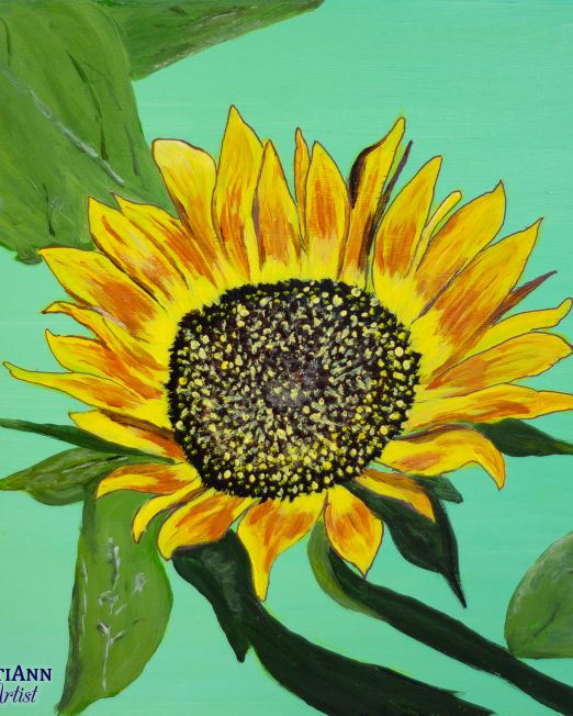Flowers in Summer Trio - First Sunflower of Summer