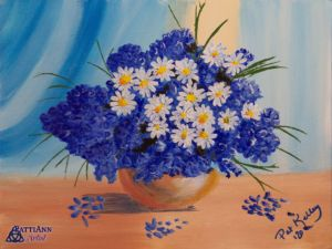 Daisies, Hydrangeas, Flowers, Bouquet