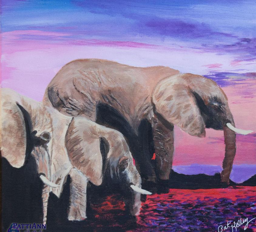 Safari River Elephants