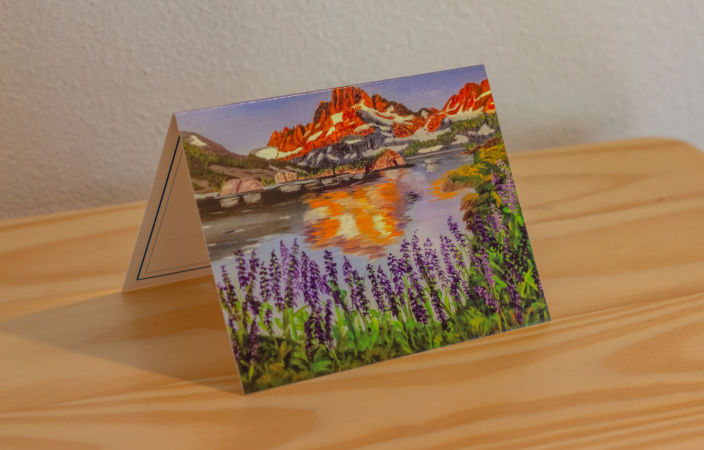 Banner Peak Alpenglow Note Card