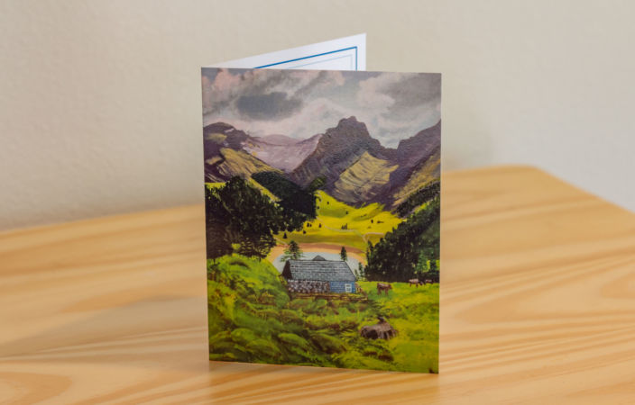Cabin in the Alps Note Card