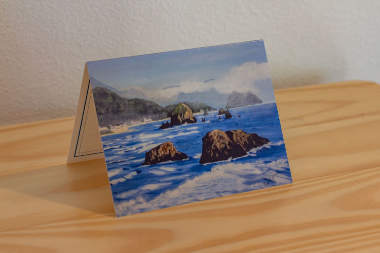 Cannon Beach from Ecola State Park Note Card