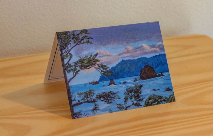 Haystack Rock from Tolovana Note Card