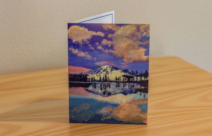 Mount Rainier Reflection Note Card