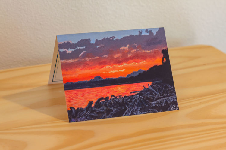 Sunset at the Cove Note Card