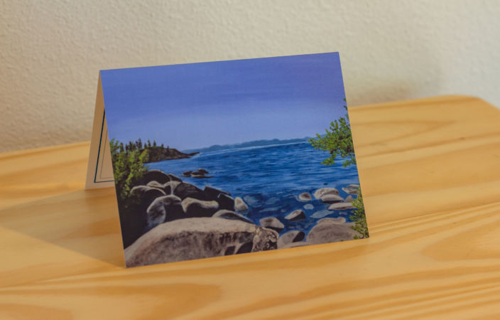 Tahoe Serenity-The Rock Note Card