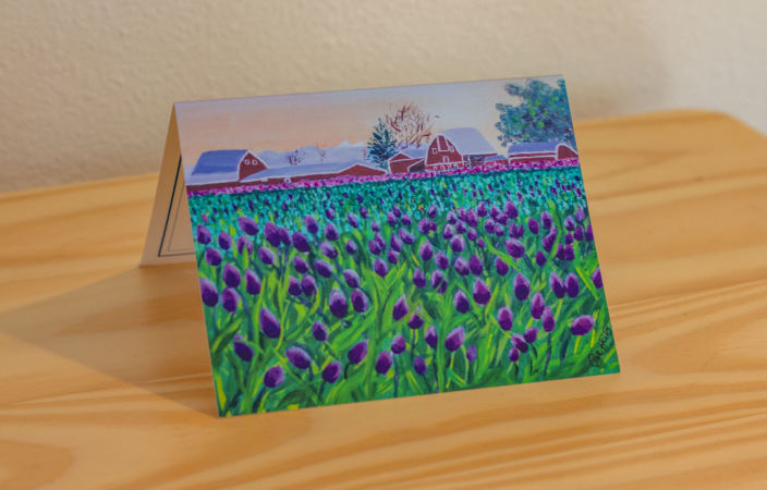 Tulip Time on the Farm Note Card